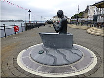 W7966 : Sculpture, The Navigator, Cobh by Kenneth  Allen