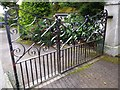 NJ9005 : Wrought iron gate, Netherhall by Stanley Howe