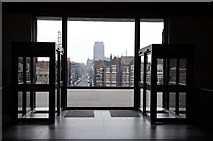 SJ3590 : View through the entrance of Liverpool Metropolitan Cathedral  by Philip Halling