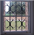 SP5105 : Wrought iron window grille, Meadows Building, Christ Church, Oxford by David Hawgood