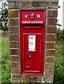 TM2786 : Crossroads Victorian Postbox by Adrian Cable