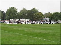 SP5105 : Eucharist in Christ Church Meadow by David Hawgood