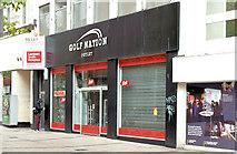 "J3374 : ""Golf Nation"" shop, Belfast (September 2014) by Albert Bridge"