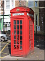 NZ3571 : K4 telephone box outside Whitley Bay Metro station by Mike Quinn