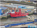 TQ3980 : Lightship, Trinity Buoy Wharf, London by Christine Matthews