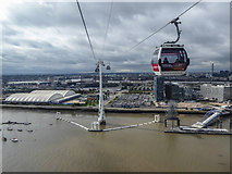 TQ3979 : Cable Car and Pylons, London by Christine Matthews