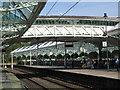 NZ3669 : Tynemouth Metro station - footbridge by Mike Quinn