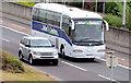 J3775 : Belfast City Coaches coach, Sydenham bypass, Belfast (September 2014) by Albert Bridge