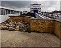 SZ3395 : Rock garden artwork, Lymington Pier by Jaggery