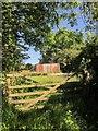 SX3759 : Shed by Poldrissick Lane by Derek Harper