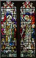 TQ5529 : Stained glass window, St Denys church, Rotherfield by Julian P Guffogg