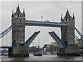 TQ3380 : Tower Bridge Opening, London by Christine Matthews