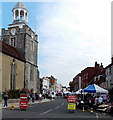 SZ3295 : Outdoor market day in Lymington by Jaggery