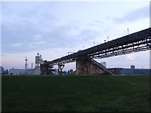 TQ6674 : Gravel Conveyor, near Gravesend by Chris Whippet
