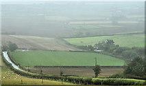 J4772 : Rain and fields, Scrabo, Newtownards (October 2014) by Albert Bridge