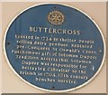 Photo of Buttercross, Pontefract, St Oswald's Cross, and Solomon Dupeer blue plaque