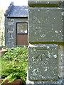 NR4146 : Bench mark at Old School House, Ardbeg, Islay by Becky Williamson