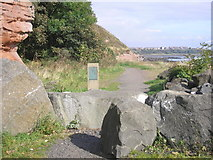 NT3496 : Start of the East Wemyss to Buckhaven section of the Fife Coastal Path by Sandy Gemmill