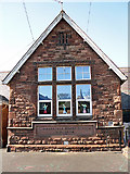 NY3853 : Date stone at Cummersdale School by Rose and Trev Clough