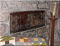 NY3056 : St. Peter's Church, Kirkbampton - lepers' squint and aumbry by Rose and Trev Clough