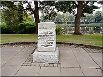 SJ8889 : Commemorative stone in Edgeley Park by Gerald England