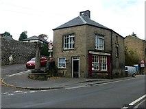 SK2375 : Farm shop in Stoney Middleton by Graham Hogg