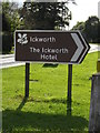 TL8261 : The Ickworth Hotel sign by Adrian Cable