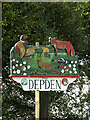 TL7857 : Depden Village sign by Geographer