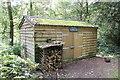 SJ2737 : Bird Hide at Chirk Castle by Jeff Buck