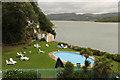 SH5837 : Hotel Portmeirion pool by Richard Croft