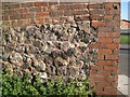 SO9390 : Brick-capped rubble wall, Maughan Street, Dudley by Robin Stott