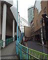 SP0786 : Pedestrian ramp from Moor Street Queensway up to St Martin's Walk, Birmingham by Robin Stott