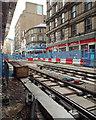 SP0686 : Midland Metro extension track partly laid, Stephenson Street, Birmingham by Robin Stott