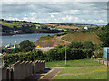 SX9273 : Open space between houses, below Kingsway, Teignmouth by Robin Stott