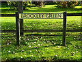 TL7247 : Brockley Green sign by Adrian Cable