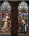TQ2584 : St James, West Hampstead - Stained glass window by John Salmon