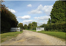 TL7448 : Entrance to Hundon Thicks Farm by Adrian Cable
