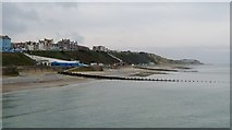 TG2142 : Cromer beach stretching west from the pier by Alan Reid