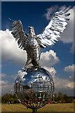 SK1814 : National Memorial Arboretum - Royal Air Forces Association Memorial (detail 2) by Mike Searle