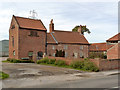 SK7284 : Church Farmhouse and Pigeoncote, Hayton by Alan Murray-Rust