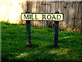 TL7046 : Mill Road sign by Geographer