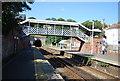 TQ8009 : Footbridge, St Leonard's Warrior Square Station by N Chadwick