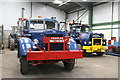 SK2406 : Statfold Barn Railway - a pair of Mack trucks by Chris Allen