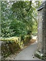 SP3211 : Minster Lovell - Path past St Kenelm to the old hall by Rob Farrow