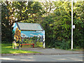 SP0366 : Painted bus shelter, Middle Piece Drive, Headless Cross, Redditch by Robin Stott