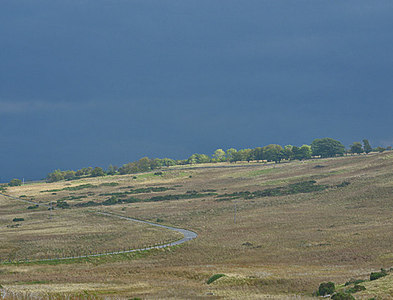 NY5214 : Sunshine and showers on Rosgill Moor by Nigel Brown