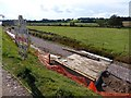 SX9785 : Gas pipeline sign and construction of NCN2 by David Smith