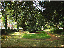 SP0366 : East end of public garden, former burial ground, Rectory Road, Redditch by Robin Stott