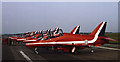 SD3131 : Red Arrows at Blackpool Airport by Ian Taylor