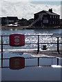 SZ1891 : Mudeford: quayside lifebuoy by Chris Downer